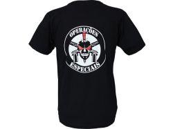 Camiseta Operações Especiais Caveira - Preta