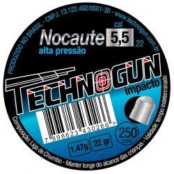 Chumbinho Nocaute Master 5,5mm - 250 unidades
