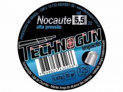 Chumbinho Nocaute  5,5mm - 125 unidades