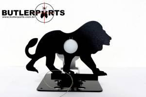 Alvo Field Target Leão - Metálico e Rebatível